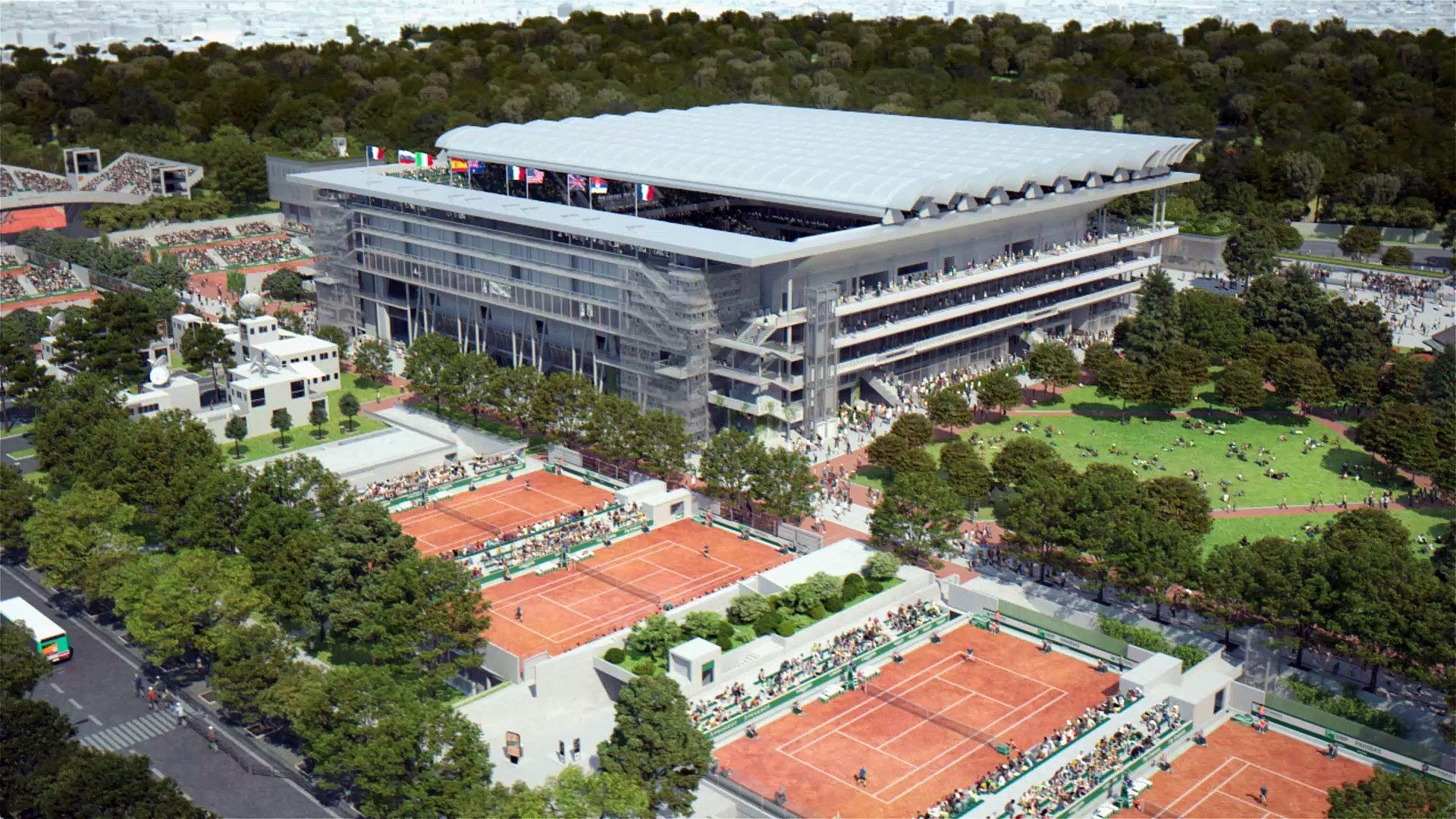 Le nouveau Roland Garros ©Photo : FFT MEDIA